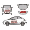 Driving School Car Advertising Kit (Front, Back, Sides)