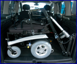 wheelchair hoist vehicle adapation