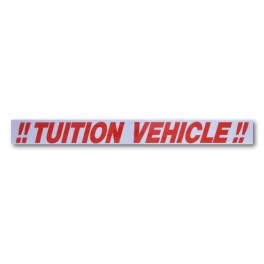 """""""!! TUITION VEHICLE !!"""" Magnetic Flash Message"""