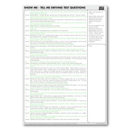"MSA ""Show Me, Tell Me"" Sheets"