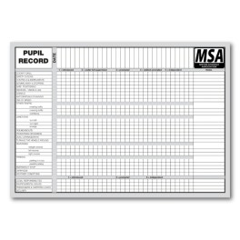 MSA Pupil Record Cards (Front)