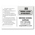 Personalised MSA Pupil Appointment Cards -  Type 2