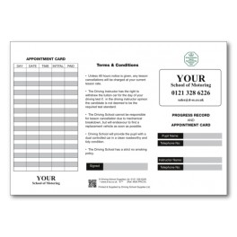 Personalised Pupil Record and Appointment Cards (Outside)