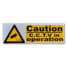 """CAUTION CCTV in operation"" Magnetic Flash Message - Type 1"
