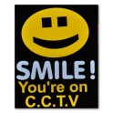 """SMILE! You're on CCTV"" Magnetic Sign"