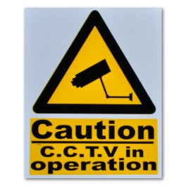 """CAUTION CCTV in operation"" Magnetic Flash Message - Type 2"