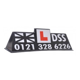 "Black ""DSS Centre L"" Roof Sign - Full Artwork"