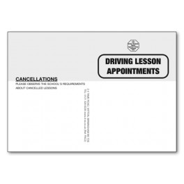 Pupil Appointment Cards -  Type 2 (Frontand Back)
