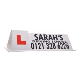 """DSS Gripper"" Roof Sign - Full Artwork (White)"
