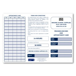 MSA Personalised Pupil Record and Appointment Cards (Outside)